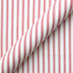 Cotton Stripe: Peony