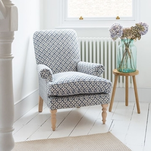 Shop Our Edit: Thistle Chair in Indigo & Wills Moroccan Tile Indigo