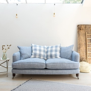 Shop Our Edit: Helmsley 3 Seater Sofa in Truro Cobalt & Hemsby Check