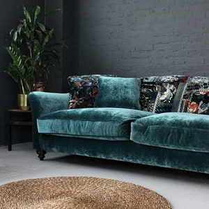 Shop Our Edit: Lyme Regis 3 Seater Sofa in Opium Velvet & Barcelona Velvet.