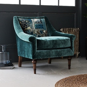 Shop Our Edit: Lyme Regis Chair in Opium Teal & Barcelona Velvet