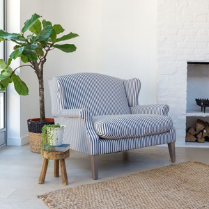 Shop Our Edit:  Tintinhull 2 Seater Sofa in Blue Ticking