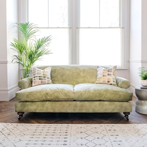 Shop Our Edit: Hampton 3 Seater Sofa in Lovely Velvet Celery
