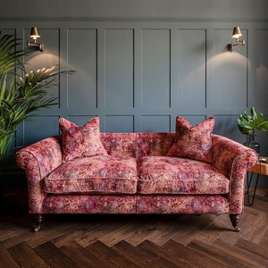 Shop Our Edit: Clavering 3 Seater Sofa in Purbeck Velvet Terracotta