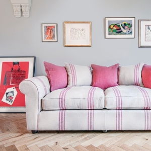 Shop our Edit: Lewes 3 seater sofa in Walloon Stripe Red