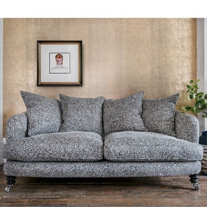 Shop Our Edit:  Helmsley 3 Seater Sofa in Romo Linara Kaiko Grey Steel