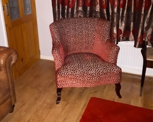 Customer Image: Grassington Chair in Colefax and Fowler Wilde Red