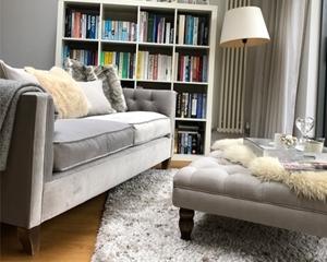 Customer Image: Haresfield 3 Seater Sofa in Portland Velvet Smoke