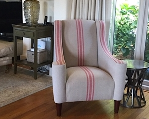 Customer Image: Sennen Chair in Walloon Stripe Red