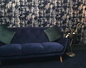 Customer Image: Kennington Large Sofa in Goodwood Velvet Midnight