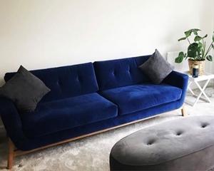 Customer Image: Bermondsey Large Sofa in Goodwood Velvet Midnight