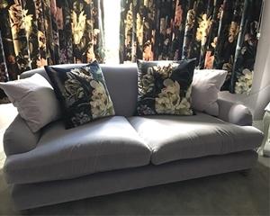 Customer Image: Lanharry 3 Seater Sofa in Designers Guild Varese Velvet Amethyst
