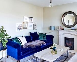 Customer Photo: Clavering 3 Seater Sofa in DG Verese Velvet Colbalt