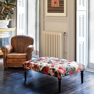Shop Our Edit: Pentlow Footstool in Mulberry Floral Velvet Pomadour Spice