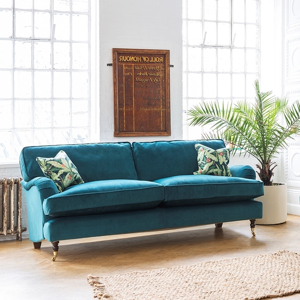 Shop Our Edit: Alwinton 3 Seater Sofa in Cameron Velvet Teal