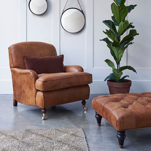 As Seen in Our Brochure: Blackdown Chair in Comanche Leather
