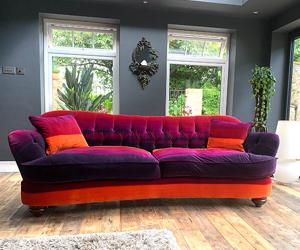 Customer Photos: Fairmont Large 4 Seater Sofa in Harlequin Amazilla Velvet
