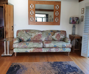 Customer Photos: Kentwell 3 Seater 2 Hump Sofa in Floral LInen Carcassonne Laurel
