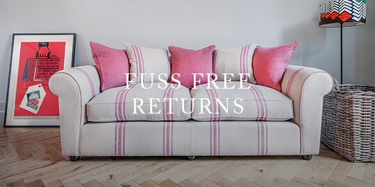fuss free returns on sofas
