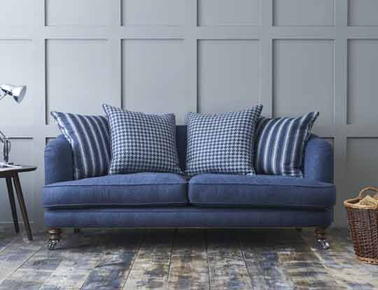Large blue wool sofa inspiration page