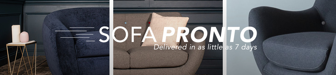 Sofas delivered in as little as 7 days