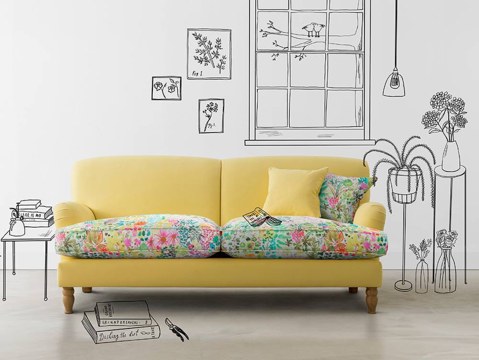alwinton large patterned sofa inspired