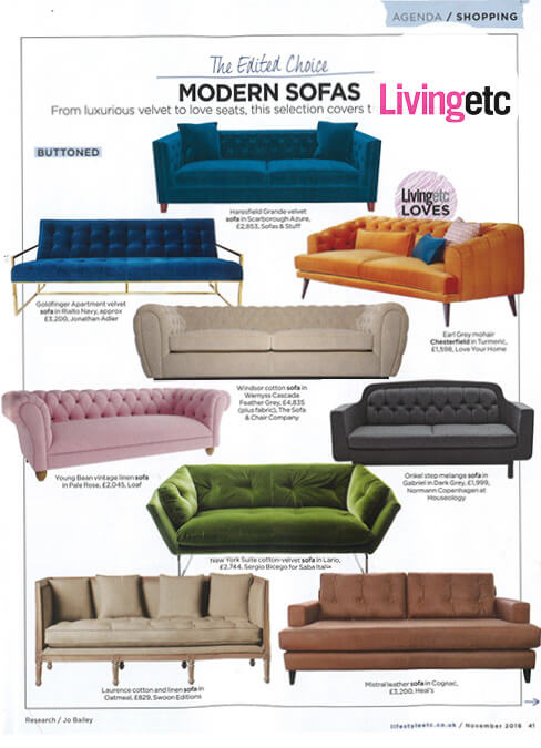 Living Etc Feature Sofas and Stuff Haresfield Sofa