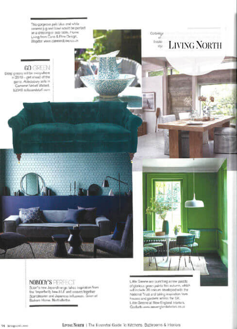 Living North Feature Sofas and Stuff Green Velvet Sofa
