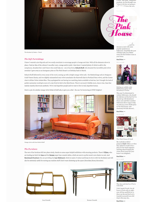The Pink House Feature Sofas and Stuff Matlock Sofa