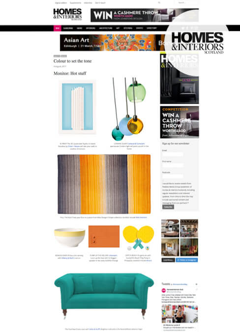 Homes and interiors Scotland Feature Sofas and Stuff Brighton Sofa