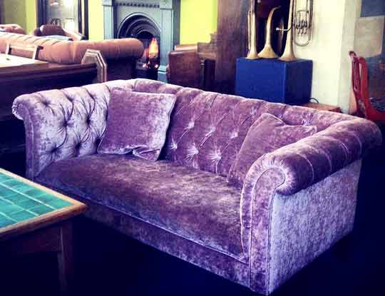 large purple velvet sofa inspiration