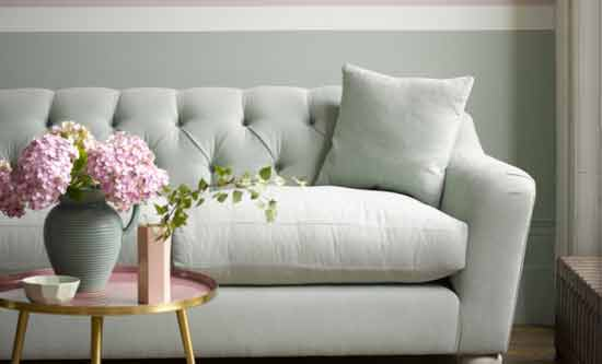 green romo fabric sofa designer page