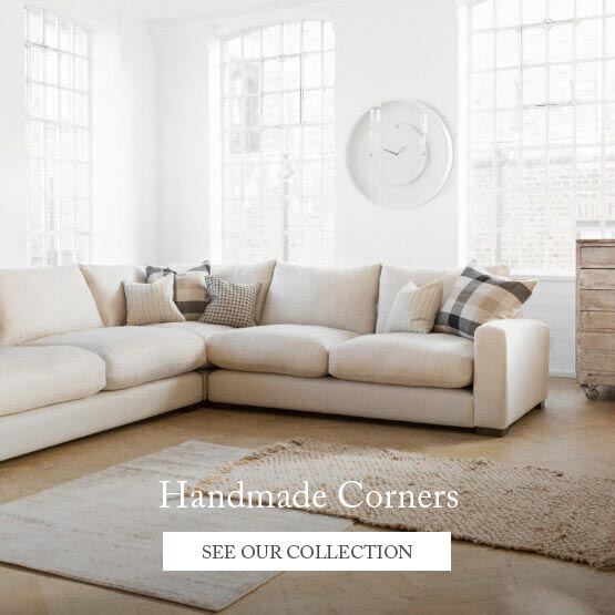 Handmade Corner Sofa with scatter cushions