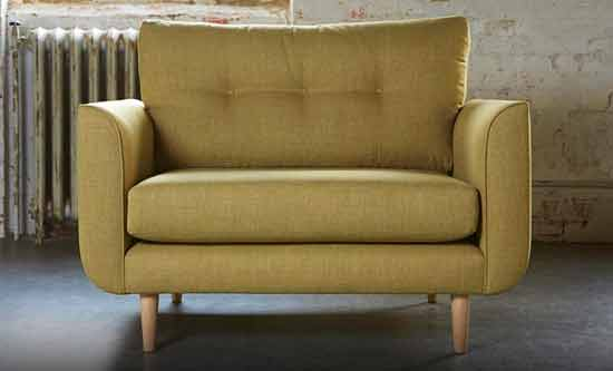 love seat sofa in green fabric inspire pages