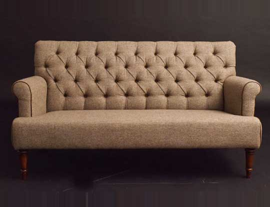 harris tweed sofa 2 seater in our showroom inspired page